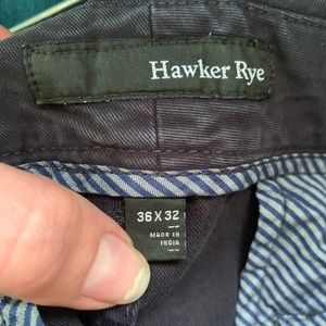 hawker rye Pants - Hawker Rye navy slim fit pants 36x32